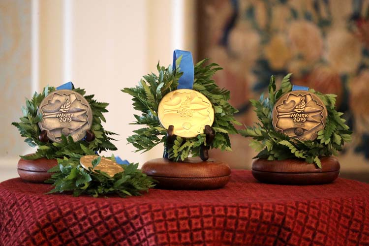 Belarus Presents Medals Of II European Games That Sambists Will Compete For