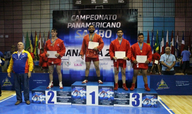 Winners and prize-winners of the Second Day of the Panamerican Sambo Championship 2015 in Nicaragua