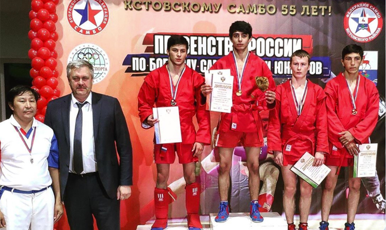 Winners of the Junior Russian Combat SAMBO Championships