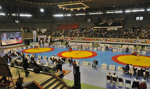 Winners and prize-winners of the Second Day of the World Sambo Championship 2015 in Casablanca (Morocco)