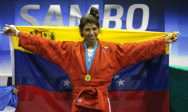 Winners and prize-winners of the First Day of the Panamerican Sambo Championship 2015 in Nicaragua