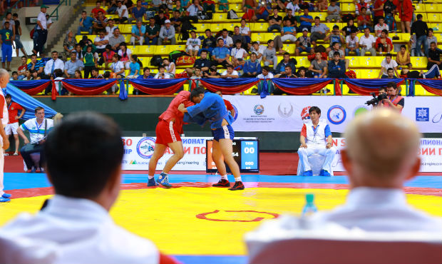 Results of the First Day of the Asian Sambo Championship 2014