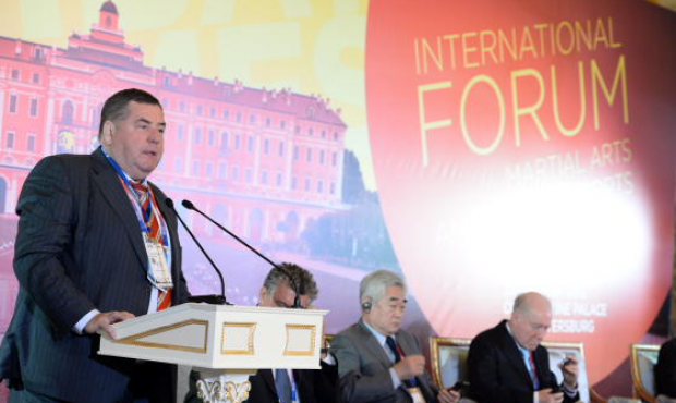 FIAS President Vasily Shestakov at The world of martial arts and combat sports in society forum