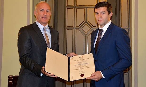 Belarusian sambist Stepan Popov receives Fair Play prize