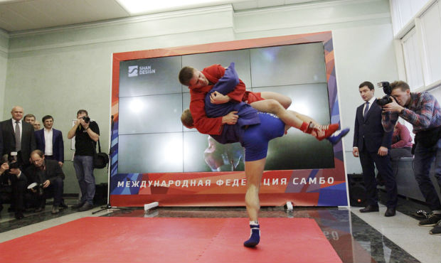 "Opening of the exhibition ""Sambo in Russia and in the World"". State Duma RF 2014 [video]"