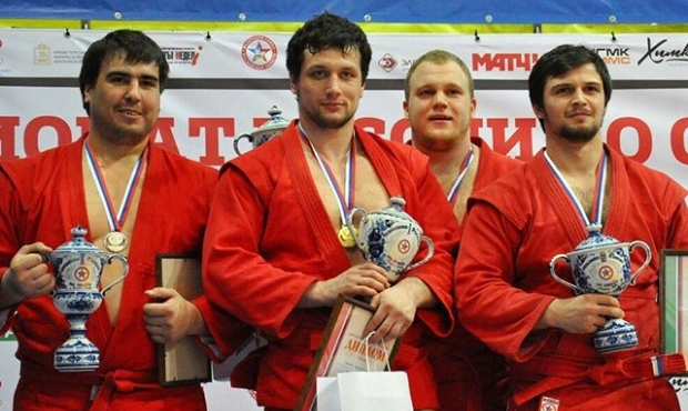 Winners and prize-winners of the Third Day of the Russian SAMBO Championships 2016