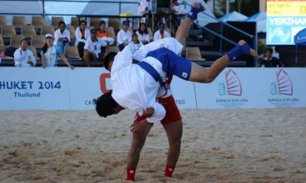 Beach Sambo at the Asian Beach Games in Phuket 2014 - FIRST DAY RESULTS [video]