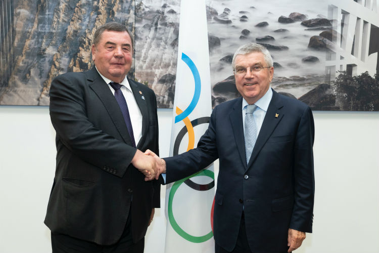 The IOC President Thomas Bach welcomes FIAS into Olympic Family