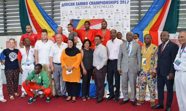 The Seychelles for the first time ever won a gold medal at African Sambo Championships