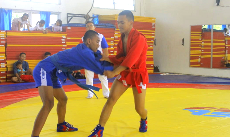 The first Indonesian SAMBO Championships were held in Karawang