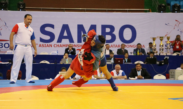 Winners of the 3rd Day of the Asian Sambo Championships in Mongolia