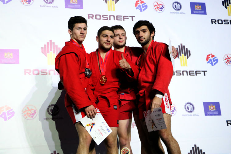 Winners of the 3rd Day of the Youth and Juniors SAMBO Championships in Tbilisi