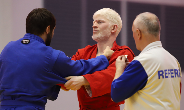 Russian SAMBO for the Blind Championships Staged in Moscow