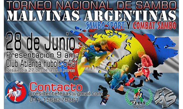 National Sport and Combat Sambo in Argentina 2014 - poster