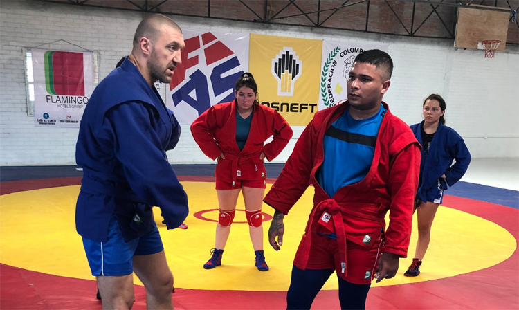 International SAMBO Training Camp Starts For the First Time in Colombia