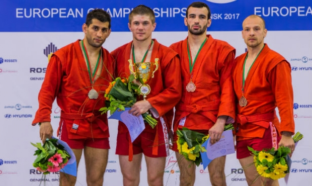 Winners of the 1 Day of the European SAMBO Championships in Minsk