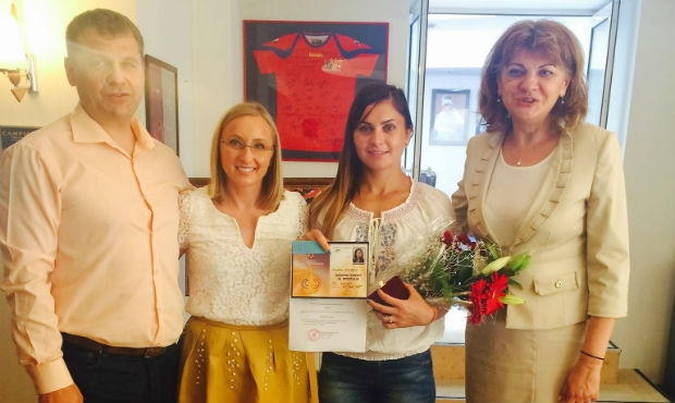 Daniela Hondiu Recognized by Romania's Minister of Sport