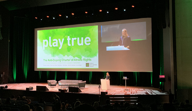 FIAS Athletes Commission Chairperson attended the 2019 WADA Annual Symposium in Lausanne