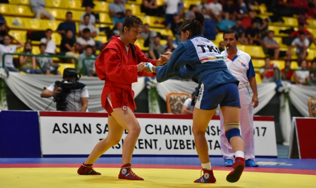 Winners of the 3rd Day of the Asian SAMBO Championships 2017 in Tashkent