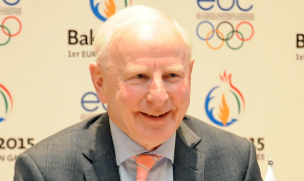 European Games in Baku: the President of the European Olympic Committees Patrick Hickey visited the sambo tournament