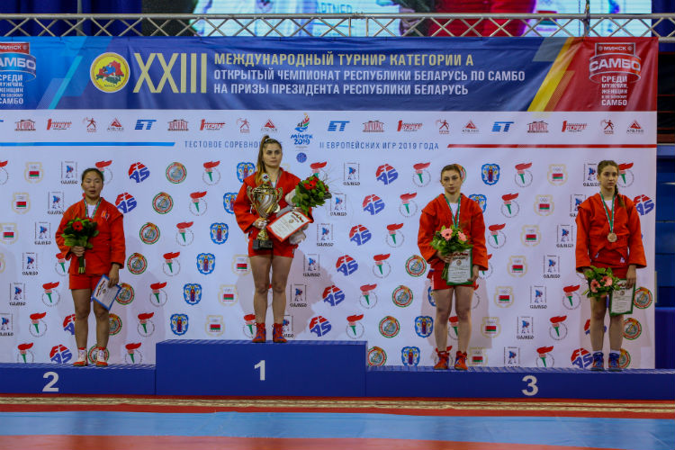 Winners of the 1st Day of the International SAMBO Tournament for the Prizes of the President of Belarus