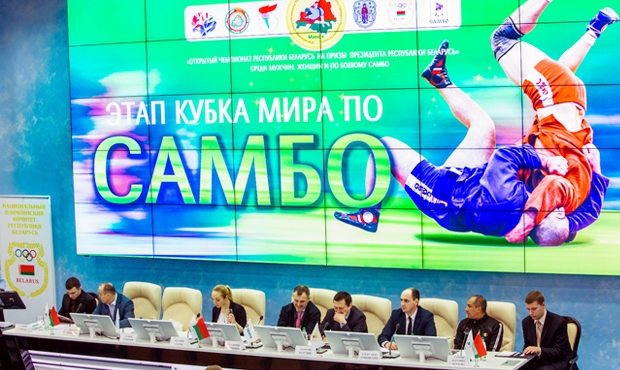 "Press conference of the Sambo World Cup Series ""Open Championship of the Republic of Belarus for the Prizes of the President of the Republic of Belarus"""