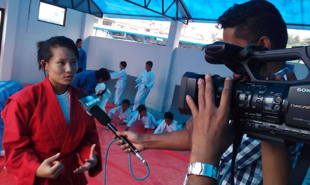 Sambo Wrestler from Nepal at Center of Journalists' Attention