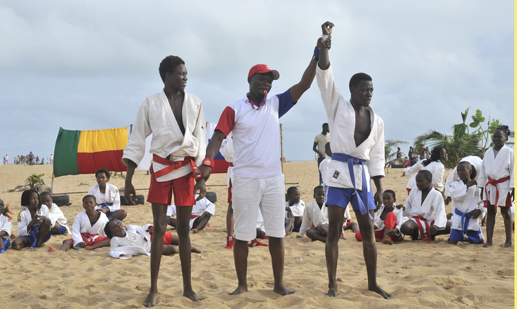 Demonstration of Beach SAMBO was held in the Republic of Benin