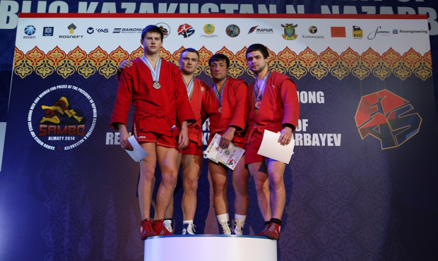 Winners and Prize-winners of the 1 day of Sambo World Cup Stage in Kazakhstan