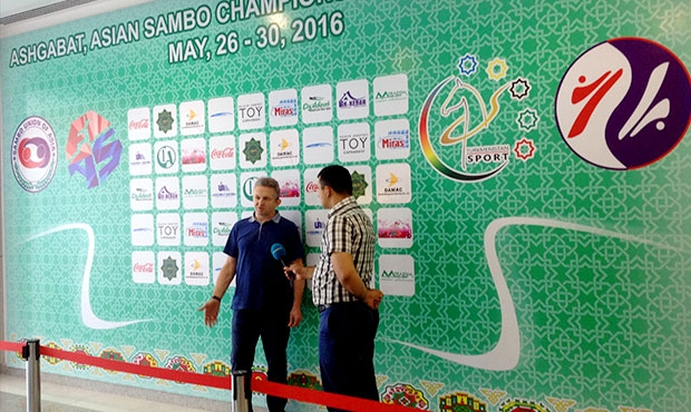 "Asian Sambo Championship 2016 in Ashgabat: FIAS's Executive Director Sergey Tabakov in an interview to the ""Turkmenistan"" channel"