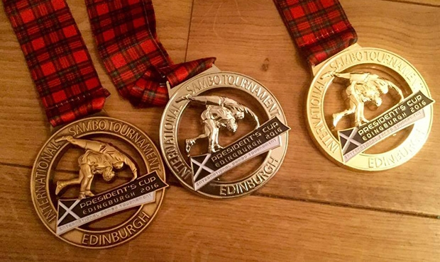 Medals at the President's SAMBO Cup in Edinburgh