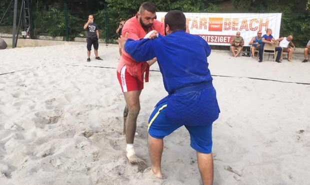 A beach SAMBO tournament marked the end of summer in Hungary