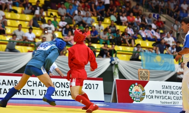 Online Broadcasting of the 2nd day of the Asian SAMBO Championships 2017 in Tashkent. Finals