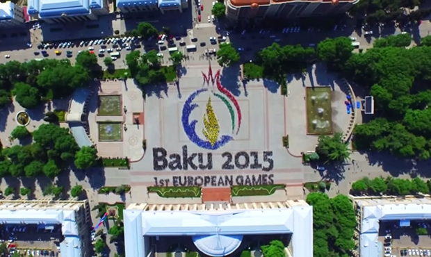 Flashmob devoted to I European Games in Baku 2015