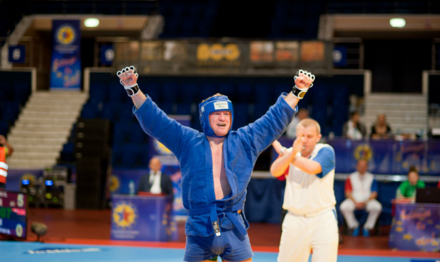 Emotions on the first day of the 2014 European Sambo Championship