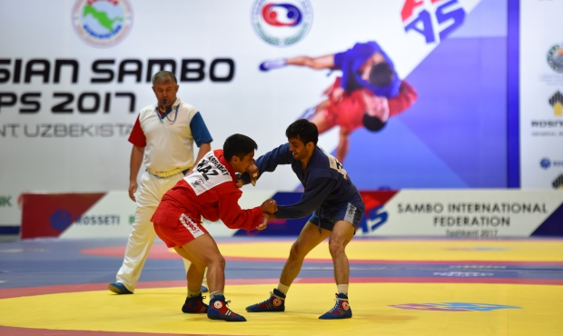 Winners of the 2nd Day of the Asian SAMBO Championships 2017 in Tashkent