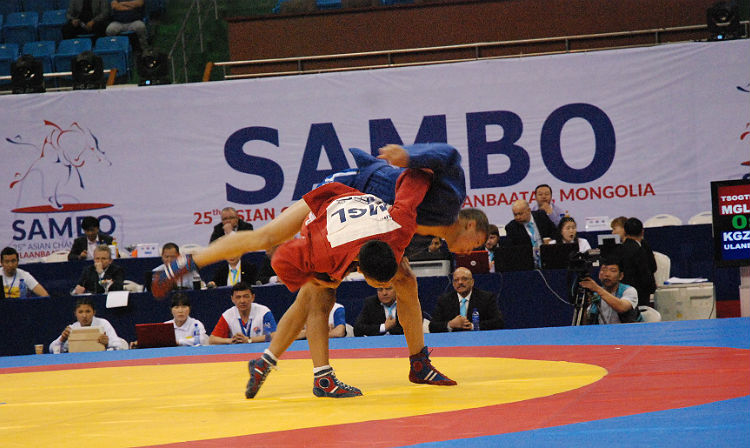 Winners of the 2nd Day of the Asian Sambo Championships in Mongolia