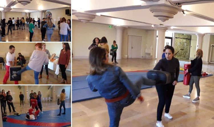 French Sambists Coach Women in Self-Defense Techniques