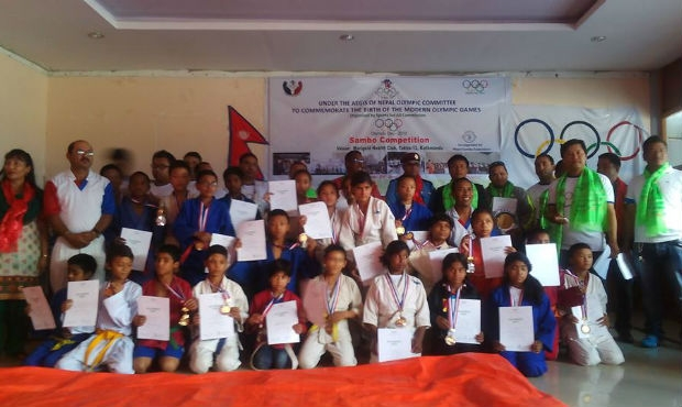 Sambo Federation of Nepal took part in the celebration of the Olympic Day 2015