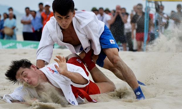 All the results of the first day of the sambo tournament at V Asian Beach Games in Danang, Vietnam