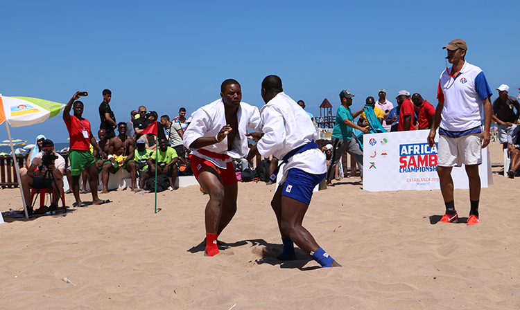Winners of the African Beach SAMBO Championships