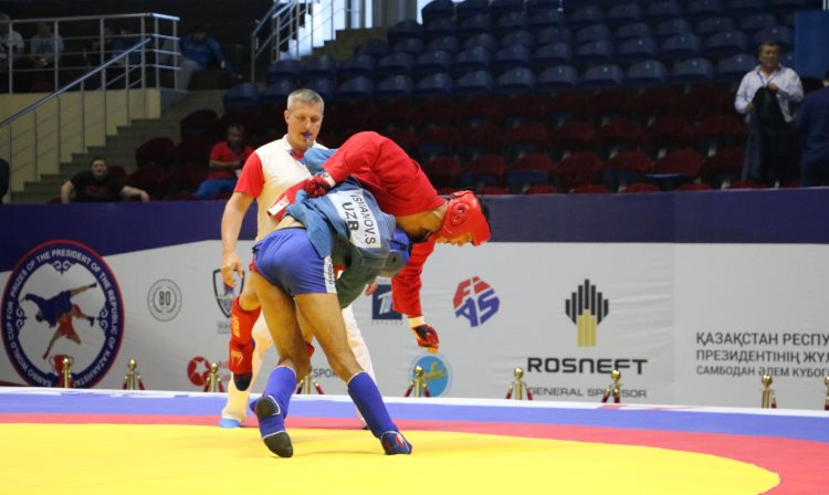 Reflections Of The Prize-Winners Of The First Day Of The International SAMBO Tournament For The Prizes of The President Of The Republic Of Kazakhstan