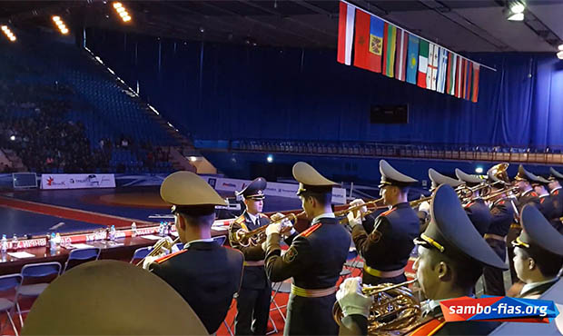Military Band plays Lady Gaga Bad Romance on Sambo Tournament in Minsk 2014