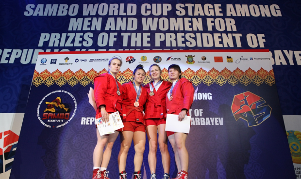 Winners and Prize-winners of the 2 day of Sambo World Cup Stage in Kazakhstan