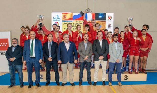 RUSSIAN NATIONAL TEAM WON IN THE TEAM EVENT AT THE EUROPEAN SAMBO CUP