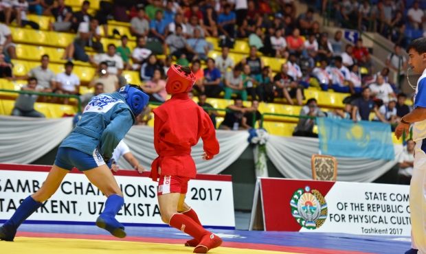 Online Broadcasting of the 2nd day of the Asian SAMBO Championships 2017 in Tashkent. Preliminaries