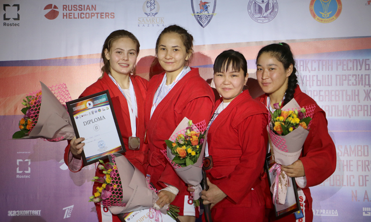 Winners of the 2nd Day of the International SAMBO Tournament in Kazakhstan