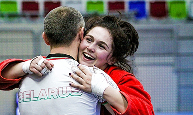 What were the winners of the second day of European Youth and Junior Sambo Championship in Prague talking about?