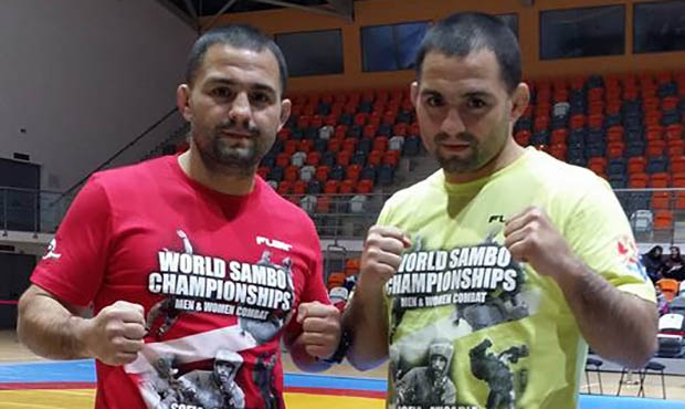Dimitrov Brothers tried on T-shirts of the World Sambo Championships in Sofia