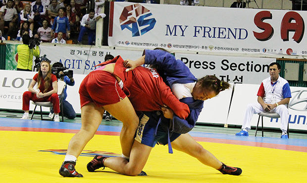 Sambo World Championship among youth and juniors 2014 in Korea. Day 3 [video]